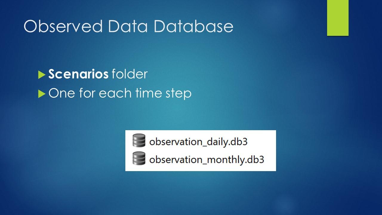 Observed Data Database